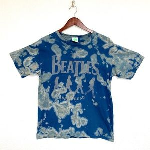 The Beatles Abby Road T Shirt, Acid Wash Upcycle